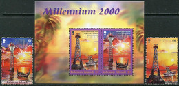 Solomon Isl. 2000. Mi.#1020/21+Bl.#59 MNH/Luxe. Millennium 2000. Transport. Ships. Lighthouses (Ts58) - Solomon Islands (1978-...)