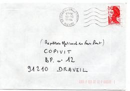 NIEVRE - Dépt N° 58 =  CHATILLON En BAZOIS 1984 = FLAMME Codée à DROITE =  SECAP Muette '5 Lignes Ondulées' - Mechanische Stempels (reclame)