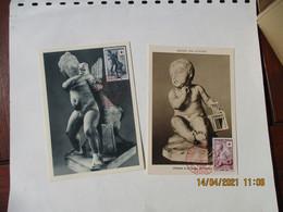 1955 Angers Croix Rouge Enfant A La Cage Et Enfant Oie   C M C  M Carte Maximum - 1950-59