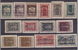 "# Z.9911 Italy, Fiume 1924 Full Set Overprint ""Regno D' Italia"" Michel 182 - 195 MNH, MLH - Fiume"
