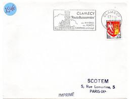 NIEVRE - Dépt N° 58 = CLAMECY 1965 =  FLAMME Non Codée = SECAP Illustrée  'Route Buissonnière / CAMPING Aménagé ' - Mechanische Stempels (reclame)