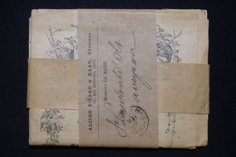 FRANCE - Bande Journal ( Avec Journal) En PP De Paris En 1900 Pour St Laurent D'Oli - L 95491 - 1877-1920: Semi-moderne Periode