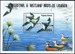 Bloc Sheet Oiseaux Canards Birds Ducks  Neuf MNH **  Ouganda Uganda - Ducks