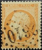 N°23. Napoléon 40c Orange. Oblitéré Losange G.C. N°2610 Narbonne - 1862 Napoleon III