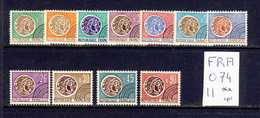 France - Yvert Preo 123-129 Et 130-133 Neufs Sans Charnière - Scott#1096/1318 MNH - Monnaie Gauloise - 1964-1988