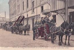 SERVICES DES SAPEURS POMPIERS DE LA VILLE DE PARIS               ORDRE POUR LE FEU      COLORISEE - Ambachten In Parijs
