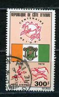 COTE D'IVOIRE : 100 ANS DE L'UPU POSTE AERIENNE -  N° Yvert 66 Obli. - Ivory Coast (1960-...)