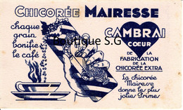 Buvard Café Chicorée Mairesse Cambrai Coeur Grain Boisson - Coffee & Tea