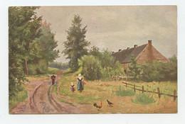 Illustrateur, Art Sign Pc. LANDSCAPE, NETHERLANDS, CACAO DE JONG Advertising ( 2 Scans ) - Other Illustrators