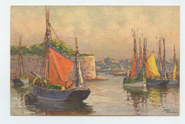 Illustrateur, Art Sign Pc. BOATS IN QUAY  ( 2 Scans ) - Other Illustrators