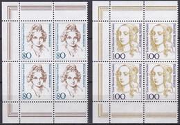 BRD, 1994,  Nr. 1755-1756 ** Frauen Der Deutschen Geschichte (XV),  2 Viererblöcke Mit Linkem Rand Aus Kleinbogen - Neufs