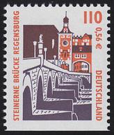 2140D SWK 110 Pf / 0,56 Euro Unten Ungezähnt, Steinerne Brücke Regensburg, ** - Ohne Zuordnung