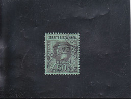 MALACCA GEORGE V  50 C  NOIR/VERT OBLITéRé N°148a  YVERT ET TELLIER 1912-13 - Straits Settlements