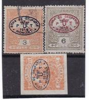 Z.10571 Hungary 1919 Romanian Occup. In Debrecen I, 3 Stamps Ovpr. Used, MNH, Michel 2, 3, 4: Turul, Newspaper - Debreczen
