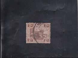 TIGRE 2C MARRON OBLITéRé  N° 52  YVERT ET TELLIER 1921-34 - Federation Of Malaya