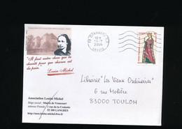 Enveloppe Commerciale Association Louise Michel  Cachet 73 Chambéry 2004 R.P. - 1950 - ...