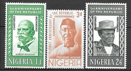 Nigeria N° 158/60 Yvert NEUF * - Nigeria (1961-...)