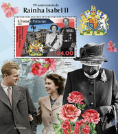 S. TOME & PRINCIPE 2021 - Elizabeth II, COVID-19 S/S. Official Issue [ST210126b] - Disease