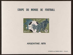 FOOTBALL Monaco 1978 Football World Cup Miniature Sheet Imperf, Maury BS 10 (ND), Never Hinged Mint. For More Images, Pl - Non Classificati