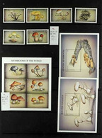 """FUNGI BARBUDA 1986-99 All Different Never Hinged Mint Collection Of Scarce Sets And Miniature Sheets All Overprinted """"BA - Non Classificati"""