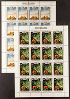 SPACE 1986 Cook Islands Halley's Comet Set, SG 1058/62, In Complete SHEETLETS Of 16, Never Hinged Mint (5 Sheetlets) For - Non Classificati