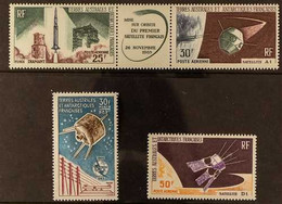 SPACE French Southern And Antarctic Territories (T.A.A.F) Selection Comprising 1965 ITU 30f, 1966 French Satellite Trypt - Non Classificati