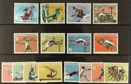 SPORT LIECHTENSTEIN 1955-1958 All Sports Complete Sets, Michel334/337, 342/345, 353/356 & 365/368, Never Hinged Mint, F - Non Classificati