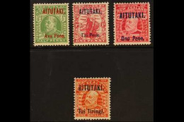 1911-16 Complete Set, SG 9/12, Very Fine Mint (4 Stamps) For More Images, Please Visit Http://www.sandafayre.com/itemdet - Aitutaki