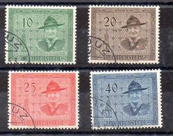 Liechtenstein Serie Nº Yvert 277/80 O - Gebraucht