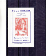 Belgique - COB E 76 ( X )  - épreuve De Couleurs - Madonne - Lourdes - Papier Cartonné - Cristianesimo