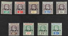 """1904 KEVII Complete Set With """"SPECIMEN"""" Overprints, SG 54s/62s, Fine Mint, Fresh Colours. (9 Stamps) For More Images, Pl - British Virgin Islands"""