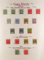 1913-1922 FINE MINT COLLECTION On Leaves With A Few Shades, Includes 1913-19 Set, 1921 Set, 1922-28 Wmk SCA Set (ex 2½d  - British Virgin Islands
