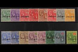 "1922-28 (wmk Mult Script CA) Complete Set Overprinted Or Perforated ""SPECIMEN"", SG 86s/101s, Very Fine Mint. (16 Stamps) - British Virgin Islands"
