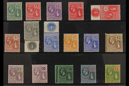 1922-28 Multi Script Watermark Definitive Set, SG 86/101, Some As Control Singles, Fine Mint (16 Stamps) For More Images - British Virgin Islands