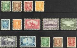 1935 KGV PORTRAIT & VIEW SET PLUS COIL SET Presented On A Stock Card, SG 341/54, Very Fine Mint (14 Stamps) For More Ima - Non Classés