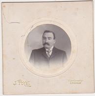 Photographie D'Art Collée Sur Un Carton épais / Homme / Albert Fortin / Phot. J. POYET à EPERNAY - Identified Persons
