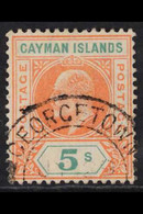 """1907 5s Salmon & Green, SG 16, Full Perfs, """"Georgetown"""" Cds, Fine Used. For More Images, Please Visit Http://www.sandafa - Cayman Islands"""