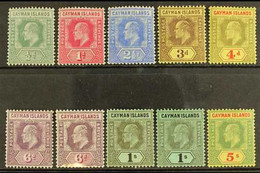 1907-09 KEVII Set To 5s, SG 25/33, Including 6d Both Listed Shades And 1s Both Watermarks, Fine Mint. (10 Stamps) For Mo - Cayman Islands