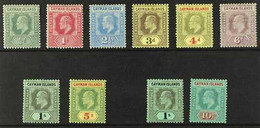1907-09 KEVII Complete Defins Set With Both Wmks, SG 25/34, 1s (SG 33) With Toned Corner Perf, Otherwise Fine Mint (10 S - Cayman Islands