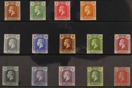 1921-26 KGV MSCA Wmk Definitive Set, SG 69/83, Very Fine Mint (14 Stamps) For More Images, Please Visit Http://www.sanda - Iles Caïmans