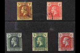 1921-26 KGV Definitive Set, MCA Wmk, SG 60/67, Fine Used (5 Stamps) For More Images, Please Visit Http://www.sandafayre. - Cayman Islands