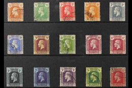 1921-26 KGV Definitive Set, Script Wmk, SG 69/83, Plus Listed 6d Shade, Fine Used (15 Stamps) For More Images, Please Vi - Cayman Islands