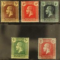 1921-26 KGV MCA Wmk Complete Set, SG 60/67, Very Fine Mint (5 Stamps) For More Images, Please Visit Http://www.sandafayr - Cayman Islands