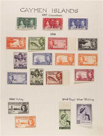 1937-50 ALL DIFFERENT MINT KGVI COLLECTION Neatly Presented On Album Pages & Includes All Omnibus Sets, 1938-48 Pictoria - Cayman Islands