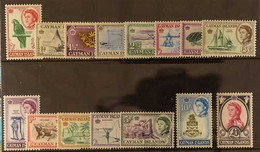 1962-64 QEII Pictorialcomplete Definitive Set, SG 165/179, Never Hinged Mint (15 Stamps) For More Images, Please Visit  - Iles Caïmans