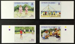 2003 IMPERF PROOFS Children's Games Set, SG 1006/10, IMPERF PROOFSon Gummed CA Wmk (Sideways) Paper, From The B.D.TSec - Cayman Islands