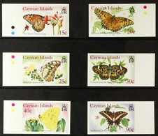 2005 IMPERF PROOFS Butterflies Complete Set, SG 1074/79,IMPERF PROOFS On Gummed CA Wmk (Sideways) Paper, From The B.D.T - Cayman Islands