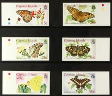 2005 IMPERF PROOFS Butterflies Complete Set, SG 1074/79,IMPERF PROOFS On Gummed CA Wmk (Sideways) Paper, From The B.D.T - Iles Caïmans