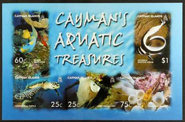 2006 IMPERF PROOF Aquatic Treasures Miniature Sheet, SG MS1103,IMPERF PROOF On Gummed CA Wmk (Sideways) Paper, From The - Cayman Islands