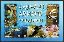 2006 IMPERF PROOF Aquatic Treasures Miniature Sheet, SG MS1103,IMPERF PROOF On Gummed CA Wmk (Sideways) Paper, From The - Iles Caïmans